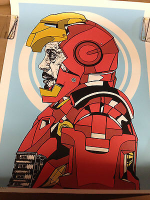 Iron Man Limited Edition By Chris Brake 18X24 Inch #44 Of 50 Long Gone Very Rare