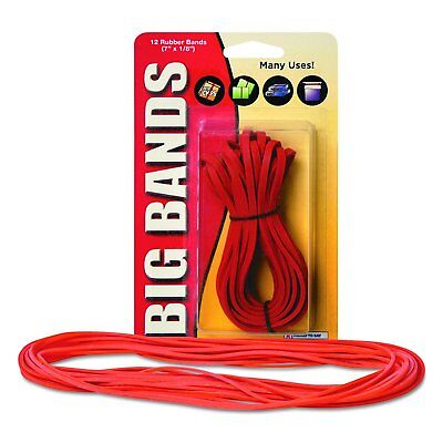 """12 Pack Big Rubber Bands, 7"""" x 13"""", Red For General Use Home Office Supplies USA"""