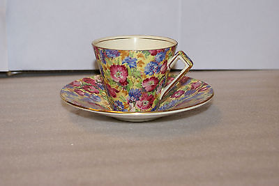 Vintage Royal Winton Grimwades England Royalty Chintz Cup Saucer