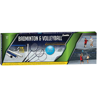 Franklin Sports Recreational Badminton and Volleyball Combo Set-FREE SHIPPING