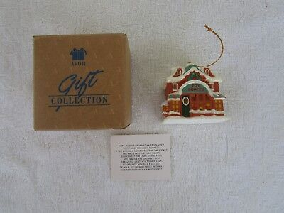 Avon Snow Frost Falls Victorian Village Light Cover- Toy Shoppe Ornament~NEW