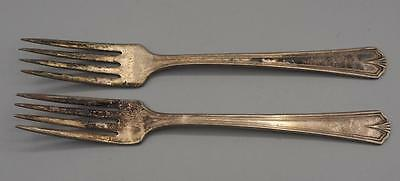 Vintage Lot of 2 Simeon L & George H Rogers Company A1 Silverplate Fork