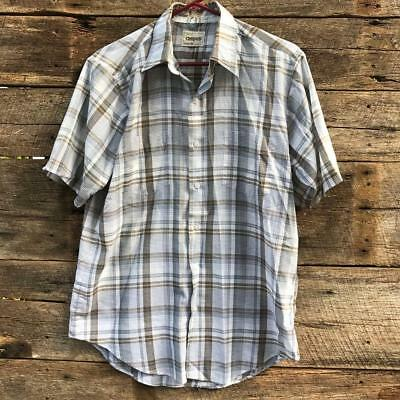 Vintage Campus Man-Fit Casual Short Sleeve Shirt Size M 15 / 15-1/2
