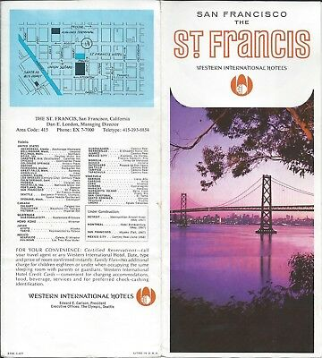 St.Francis Western International Hotel SAN FRANCISCO - vintage travel brochure