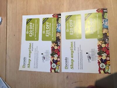 2x OCADO VOUCHER FOR £80 OFF YOUR 1ST SHOP + £0 OCADO DELIVERY FOR A YEAR