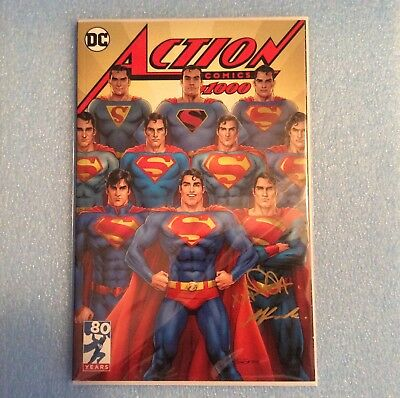 Dc Action Comics #1000 Nicola Scott Signed Exclusive Variant Limited Edition New