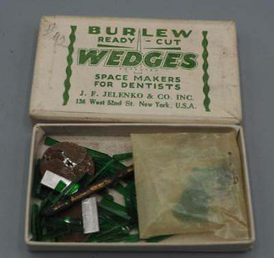 Antique Burlew Ready Cut Wedges Space Makers For Dentists Jelenko New York