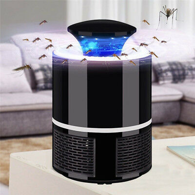 Mosquito Killer Trap Moth Fly Wasp LED Light Lamp Insect Pest Zapper Repeller