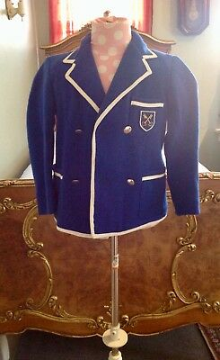 Vintage English Rob Roy School Boy Double Breasted Blazer Exceptional Condition