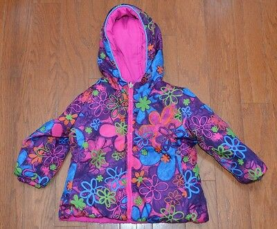 7b33b7e07 PACIFIC TRAIL GIRL S Size 18M Pink Splash Floral Reversible Jacket ...