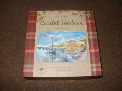 Laura ashley 1000 piece jigsaw puzzle vintage world map 500 laura ashley 1000 piece jigsaw puzzle coastal harbour gumiabroncs Images