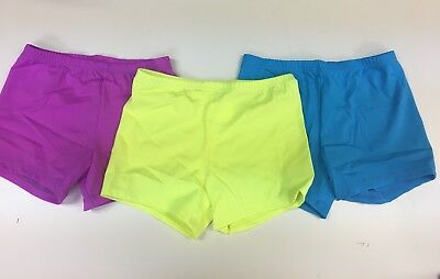 Lexi Luu Girl's L/ 3 Pk Neon Yellow, Lilac, And Turquoise Booty Short Dance Set