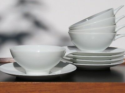 "SET: 5 (!) Suppentassen THOMAS "" Finlandia "" Design TAPIO WIRKKALA weiß"