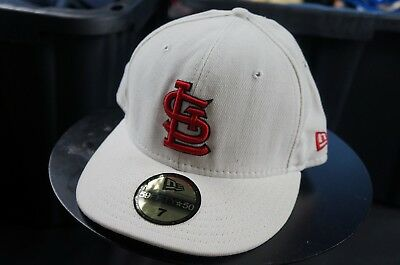 the latest 3b80e 90522 Rare Vintage NEW ERA St. Louis Cardinals MLB 59Fifty Fitted Hat Cap White  Size 7