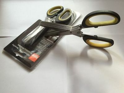 Shredding Scissors b&q,1 Pairs They shred Paper-Document, ideal for kitchen herb