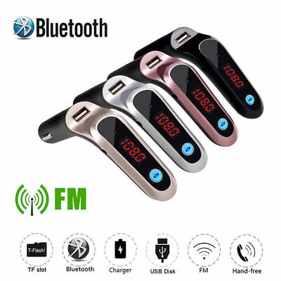 Wireless Car Bluetooth  LCD Hands-free FM Transmitter Player Adapter USB Charger