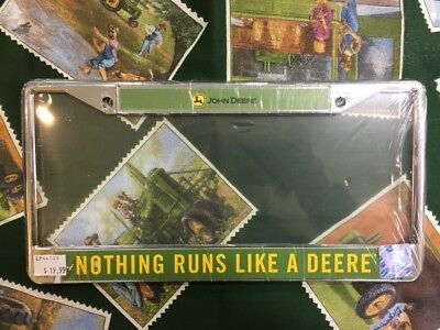 John Deere License Plate Holder