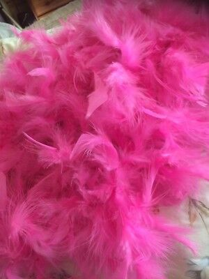 "Vintage Pink Feather Boa 65"" Long"