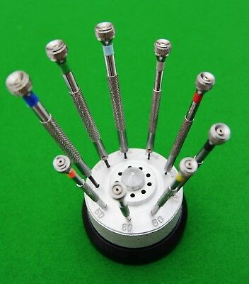 Set of 9 screwdrivers, ideal for use in horological/jewellery repair.