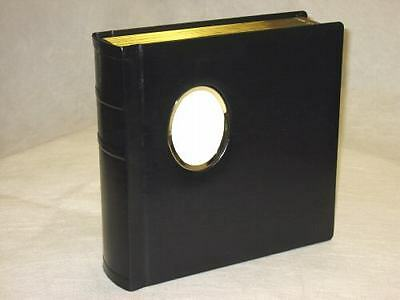 Engraving Available Professional 10x10 BLACK Silver Photo Album With 40 Mats