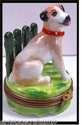 Limoges Jack Russell Dog No.19 Authentic Limoges Box Made in France
