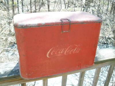 1950's Coke-Cola A2 Progress small cooler with tray needs TLC