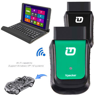 ABS DPF OBD2 SRS Car Full System Scanner Fault Code Diagnostic Tool+Win10 Tablet