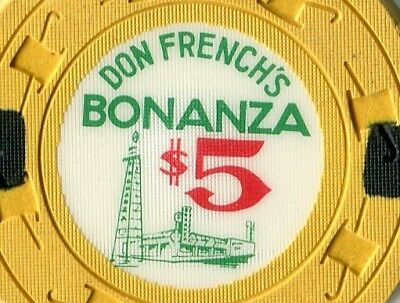 """1963 DON FRENCH'S BONANZA  $5 VEGAS  """"The Rare One""""  DO YOU HAVE??  RATED """" Q """""""