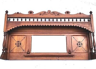 Vintage Mantel Mantle Header Pediment Interior Decor Bathroom Mirrior Mud Room