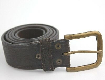 "Vintage Wide Thick Retro Next Real Leather Belt Fits 30-35"" Waist"