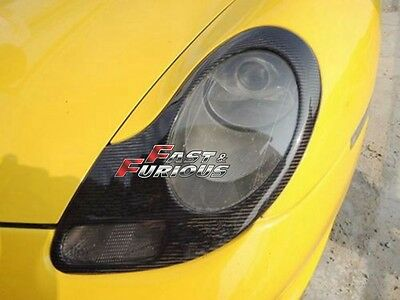 For Carbon Fiber Porsche 996 911 / Boxster 986 Headlights Covers Eyelids Trims