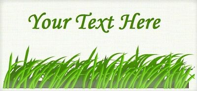 "Blades of Grass –""Iron On or Sew In"" - Cotton Fabric Labels - Yarn Friendly"