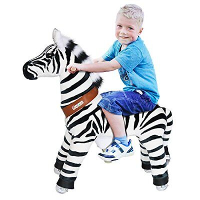 Official PonyCycle Zebra Black & White Ride On Toy Horse Small 3-5 Years Old