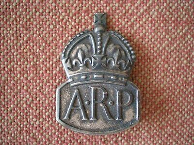 WW2 Air Raid Precautions 1938 London Sterling Silver Badge
