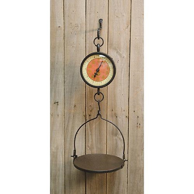 New Primitive Country Farmhouse Vintage Large MARKET WEIGHING SCALE Hanging Tray