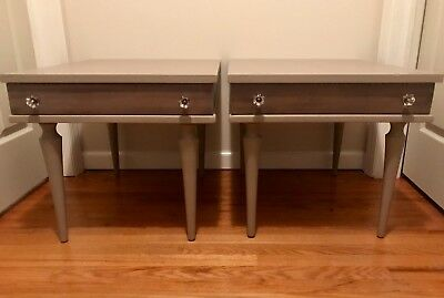 Vintage American of Martinsville Nighstands End Tables Mid Century Modern Rare