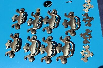 Vintage drawer pulls cabinet hardware lot brass