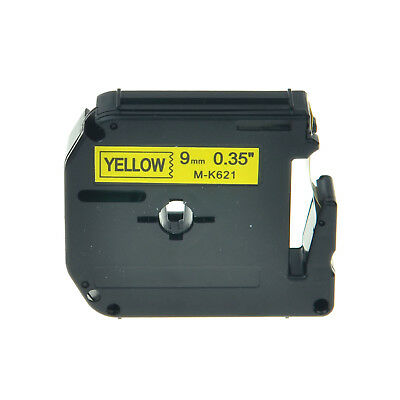 9mm Black on Yellow Label Tape Compatible For Brother MK621 M621 PT-70HOT PT-55S