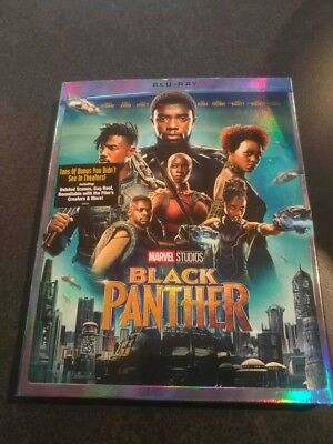 Black Panther Blu-ray & Slipcover Brand New FAST Free Shipping
