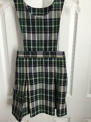 Dennis Uniform Co. Carden Plaid Box Pleated Jumper Size G6