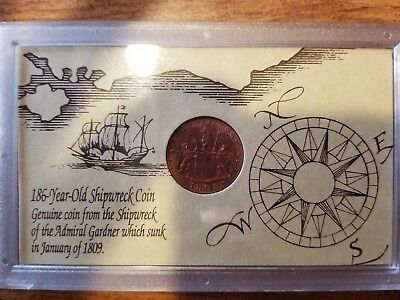 1808 East India Company X Cash Shipwreck Treasure Coin