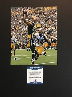 80d1790185c Jordy Nelson autographed signed 8x10 photo Beckett BAS COA Green Bay Packers