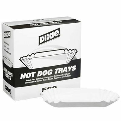 "Dixie 8"" Fluted Hot Dog Tray 500ct"