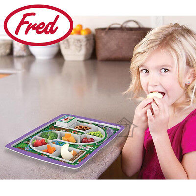 NEW Fred Dinner Winner Forest Kids Fun Plate Melamine Food-safe Feeding Aid