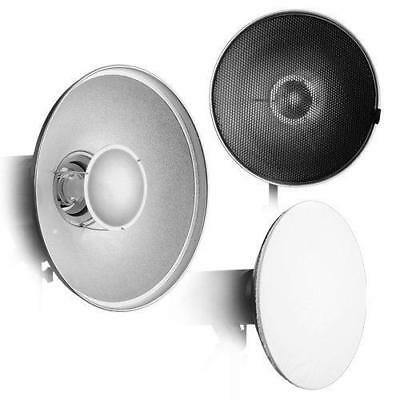 """Fotodiox Pro Beauty Dish 16"""" Kit with Honeycomb Grid and Speedring for Bowens"""