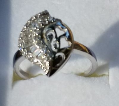 Sterling Silver with Cubic Zirconia Ring - Size 7