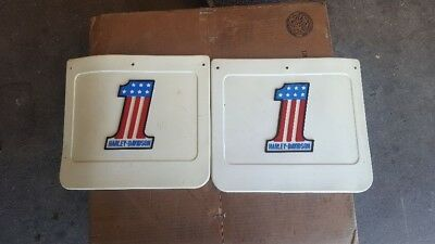 AMF Harley Davidson Number 1 Red White and Blue Mudflaps