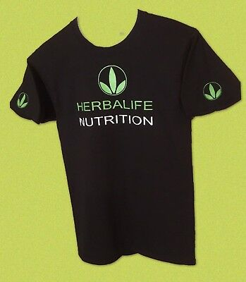 Herbalife Nutrition Logo UNISEX Black T-shirt Size S to XL