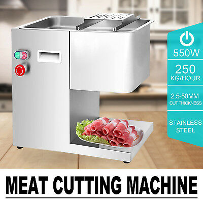 250Kg/Hour Stainless Steel Meat Cutting Machine 550W Lamb Slicing 3mm Blade
