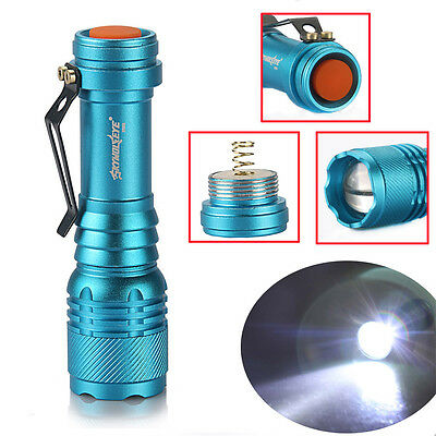 Blue High-power 20000Lumen Zoomable 3mode T6 LED Flashlight Light Torch 14500/AA